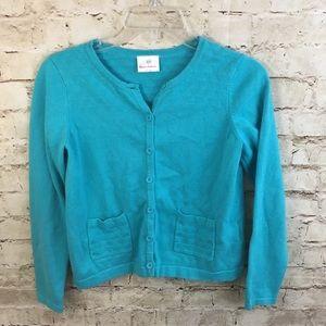Girls Hanna Andersson Blue Cardigan Sweater 150/12
